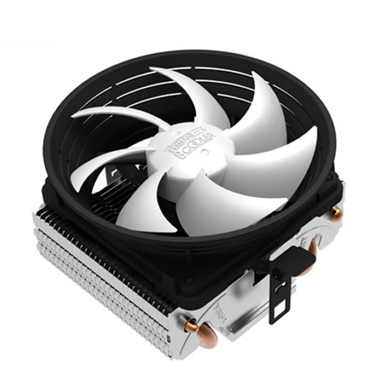 10cm fan 2 heatpipe Cooling for Intel LGA1151 775 1155 for AMD AM3+/FM1/FM2 cooler for CPU fan radiator silent PcCooler Q102 V4 120mm 4pin neon led light cpu cooling fan 3 heatpipe cooler aluminum heat sink radiator for inter amd pc computer