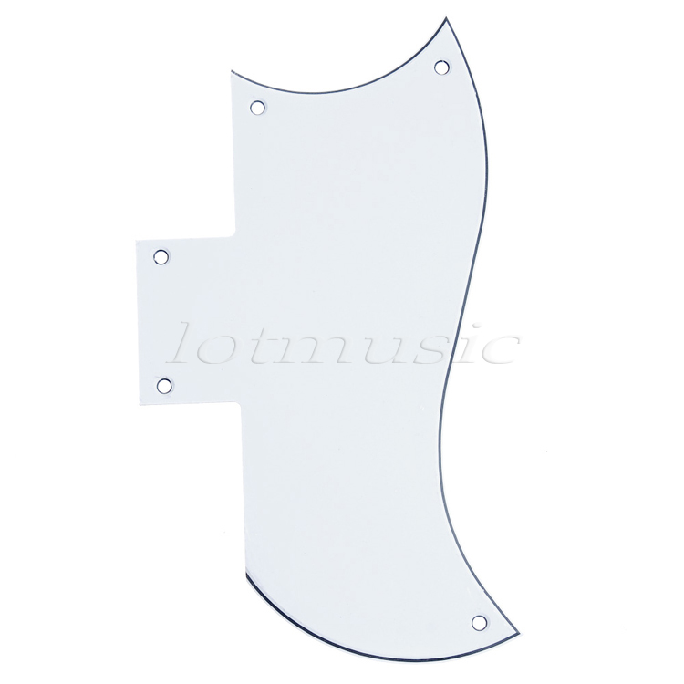 Electric Guitar Guitarra Pickguard Scratch Plate For SG Standard Parts Replacement 3Ply Black Pearl White standard sg special guitar full face pickguard w p90 pickup hole white pearl