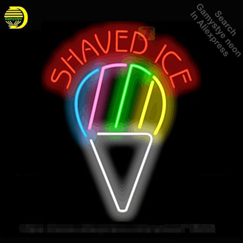 Neon Sign for Shaved Ice Neon Light Sign Shop Advertise Display Pirate signs Neon Tube Sign handcraft Publicidad lamps Custom