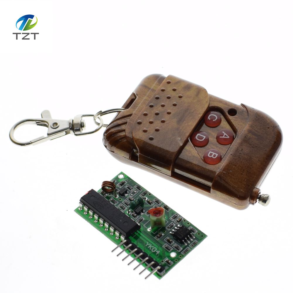 1set 2pcs 2262/2272 Four Ways Wireless Remote Control Kit,M4 the lock  Receiver with 4 Keys Wireless Remote Control-in Integrated Circuits from  Electronic ...