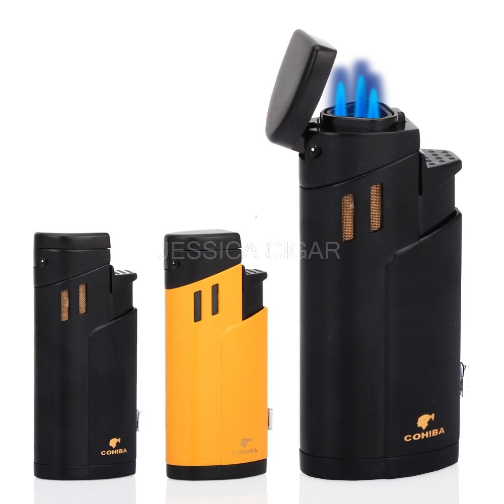 COHIBA аксессуары для металла ветрозащитный прикуривателя карман бутан 3 Flame Jet
