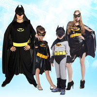 Free Shipping Batman Cosplay Suit Adult Men And Women Dance Parties Halloween Costume Christmas Child Superhero
