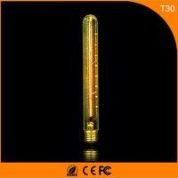 50Pcs Vintage Design Edison Filament E27 B22 LED Bulb ,T30 40W Energy Saving Decoration Lamp Replace Incandescent Light AC220V