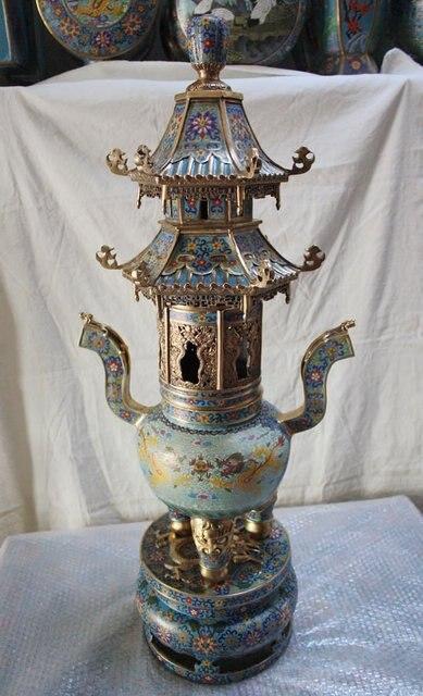 (jtl26) Cloisonne Crafts - Incense burner(gifts in high-end collection of furnishings)