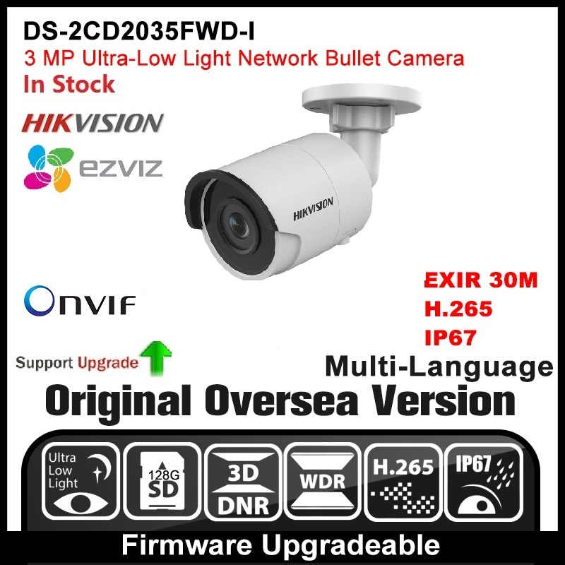 HIKVISION DS-2CD2035FWD-I(2.8mm) Original English Version 3MP IP camera CCTV Camera POE Network camera P2P H.265 Onvif  outdoor cd диск fleetwood mac rumours 2 cd