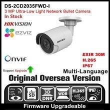 HIKVISION DS-2CD2035FWD-I(2.8mm) Original English Version 3MP IP camera CCTV Camera POE Network camera P2P H.265 Onvif  outdoor