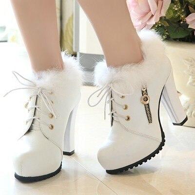 schoenen met dikke hak