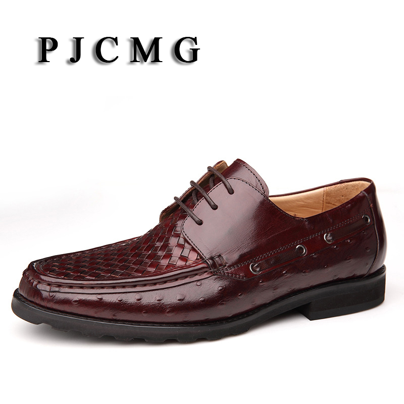 PJCMG New Fashion Breathable Designers Brand Genuine Leather Pointed Toe Lace-Up Flats Oxford Wedding Shoes Casual Best for Man 2017 new women shoes genuine leather casual shoes flats breathable lace up soft fashion brand shoes comfortable round toe white