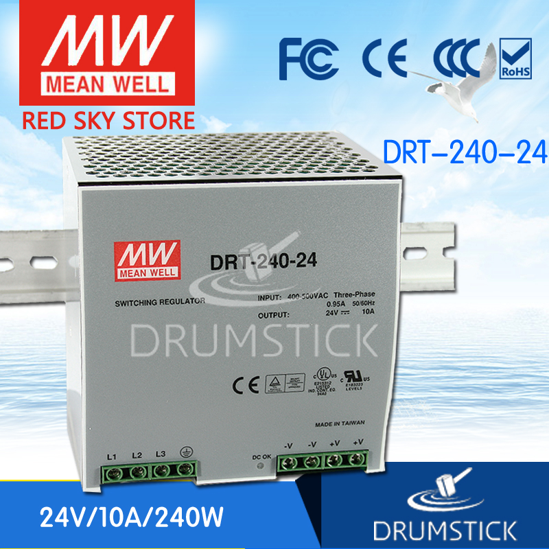 Advantages MEAN WELL DRT-240-24 24V 10A meanwell DRT-240 24V 240W Single Output Industrial DIN RAIL Power Supply [Real6] [powernex] mean well enc 240 24 240w desktop single output battery charger meanwell enc 240