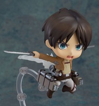 2Styles Nendoroid Q Version Attack on Titan Legion Levi Rivaille #390 Eren Jaeger # 375 Toy Figure Collectable toys