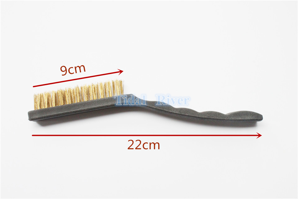 2pcs Dental Instrument and bur CLEANING Brass BRUSH Tool