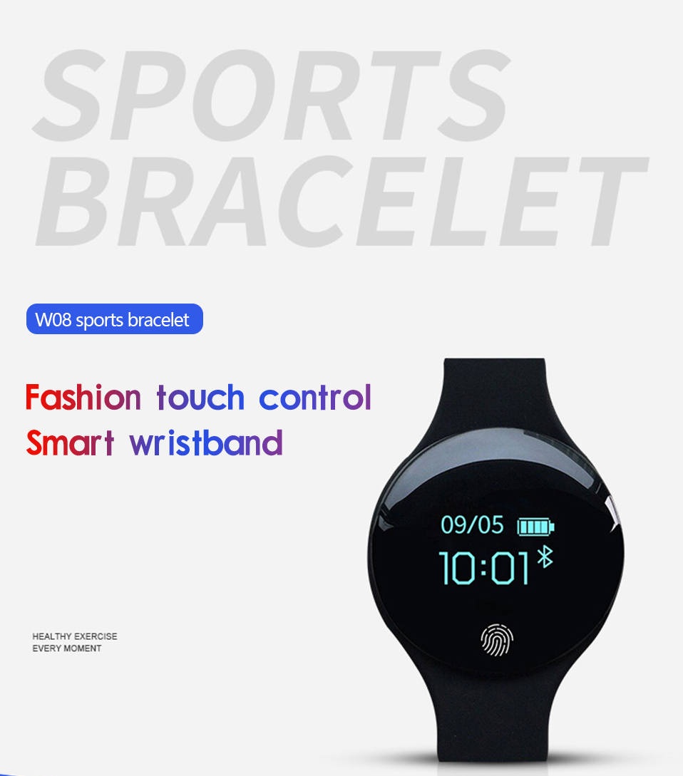 ALANGDUO H8 Smart Bracelet Children Style Touch Control Band ip65 Waterproof Sport Activity Tracker Fitness Wristbands Watches (3)