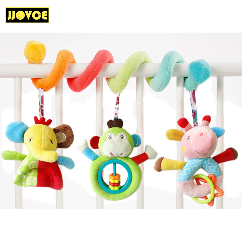 JJOVCE Playpen Baby Crib Bed Hanging Toys Stroller Rattles Plush Elephant Doll Infant Carrier Accessories For Newborn Education