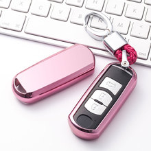 New TPU Car Key Case Auto Protection Cover For Mazda 3/6 Axela Atenza CX-5 Holder Shell Colorful Car-Styling Accessories