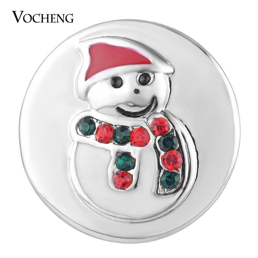 Vocheng di Zenzero A Scatto Gioielli Vacanza Pupazzo di Neve con il Regalo di Cristallo Di Natale Vn-1758