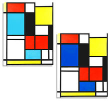 Piet Cornelies Mondrian Classic Art Geometry Line Red Blue Yellow Composition Canvas Painting Poster Wall Decor Home