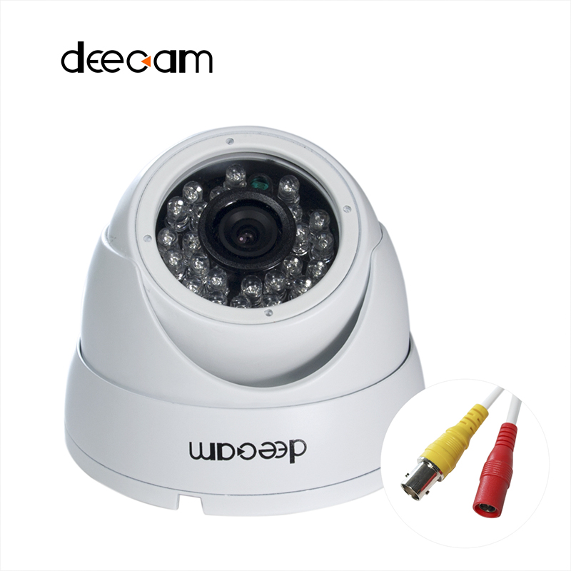 ФОТО Deecam Dome Security Camera AHD Camera 1200TVL 1.0MP CCTV Camera Outdoor 3.6mm lens IR Night Version 720P camaras de seguridad -