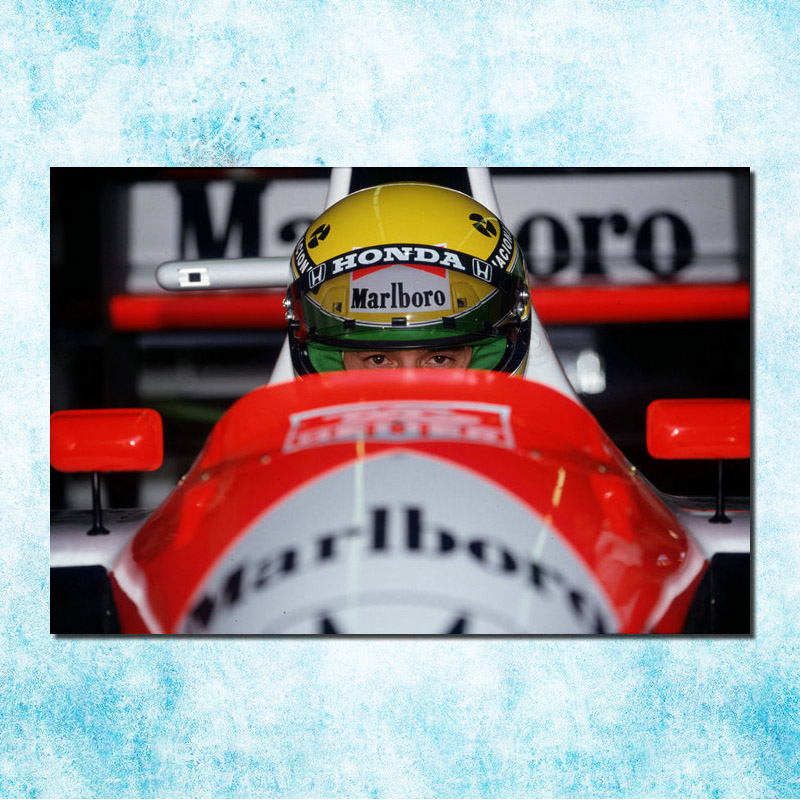 Ayrton Senna F1 racing champion Silk Canvas Poster 13x20 24x36 inches Home Wall Decoration (more)-2