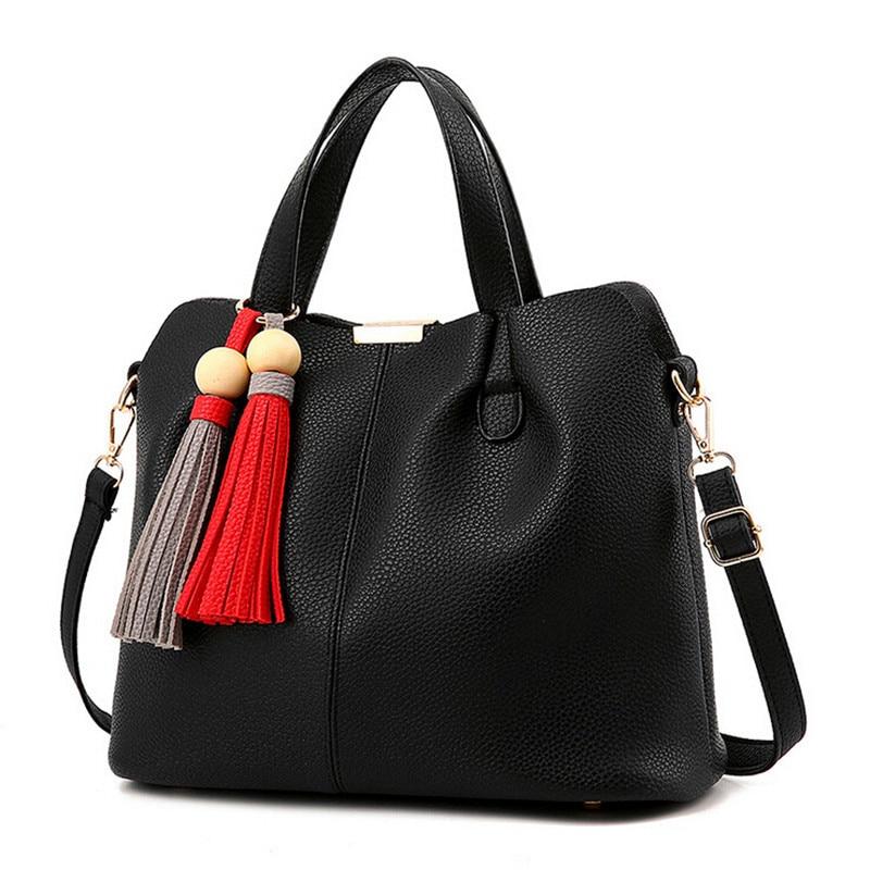 ФОТО COOL WALKER New Casual Fashion Tassel Star Brand Women Handbag For Women Shoulder Bag Composite Bag Classic Women Bag Tote