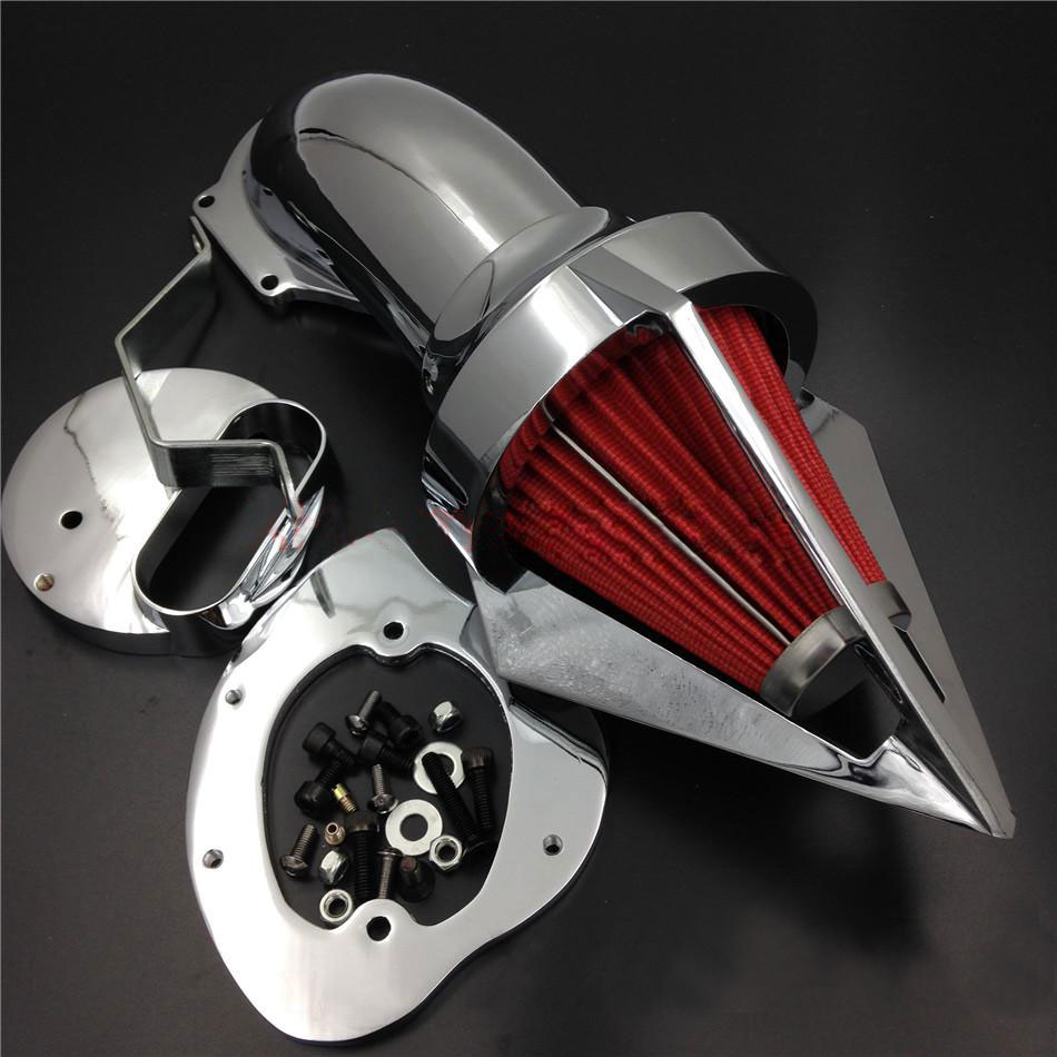 For 99 12 Yamaha V Star Dragstar 1100 XVS1100 Spike Cone Motorcycle Air Cleaner Intake Filters Kit Accessories 1999 2012 in Air Filters Systems from Automobiles Motorcycles