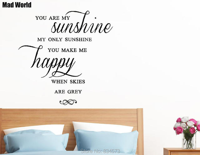 mad world you are my sunshine happy skies wall art stickers wall