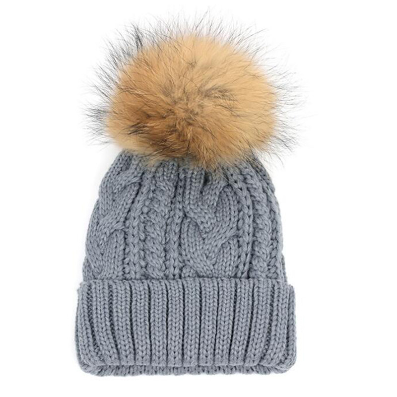 Warm Wool Women skullies Winter beanies Girls Beanie Cap Hat Casual Female Hats Knitting Fur Pom Crochet Caps Fashion women cap skullies