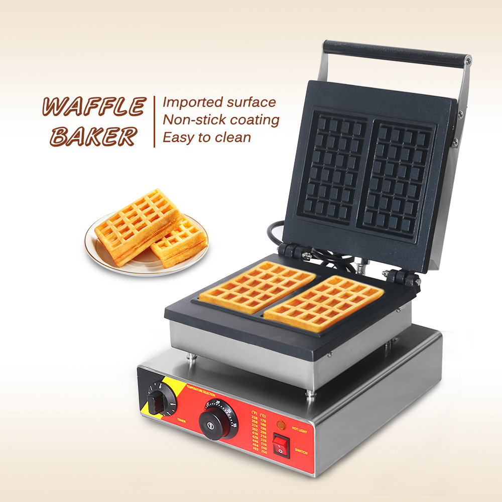 ITOP 220 V máquina eléctrica para hacer wafles máquina de hierro sándwich burbuja huevo pastel horno Waffle panadería máquina de desayuno - 6