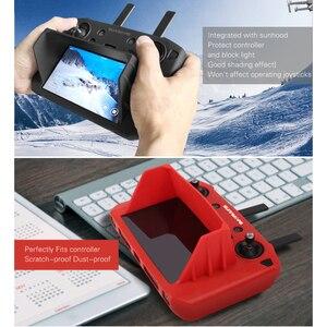 Image 5 - Mavic 2 Akıllı uzaktan kumanda ile ekran silikon koruma kapağı güneş gölge hood dji mavic 2 pro zoom drone