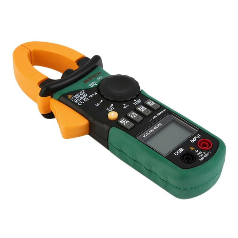 MASTECH MS2008B Digital Multimeter Amper Clamp Meter Current Clamp Pincers AC Current AC/DC Voltage Capacitor Resistance Tester victor vc6056d clamp meter multimeter ac dc current voltage resistance tester 600a 32mm jaw