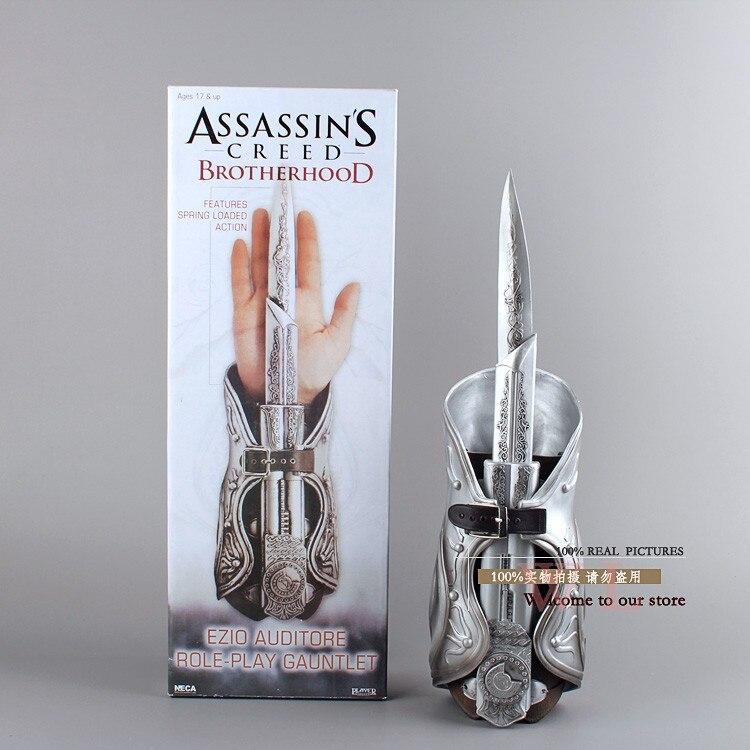 High Quality 1pcs NECA Assassin's Creed Hidden Blade Brotherhood Ezio Auditore Gauntlet Replica Cosplay Christmas Gift MVFG017