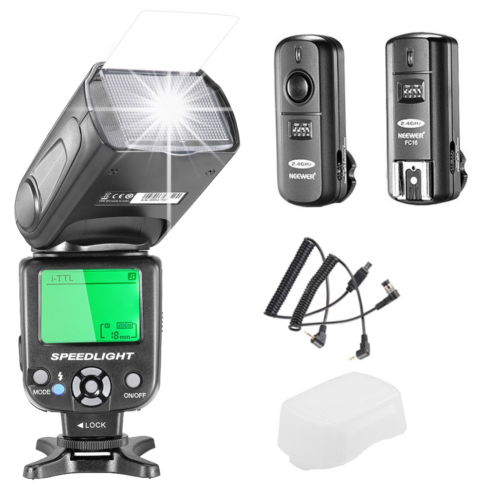 Neewer NW-562N i-TTL Flash Speedlite Kit for Nikon DSLR Camera 2m i ttl flash off camera cord cable for nikon dslr