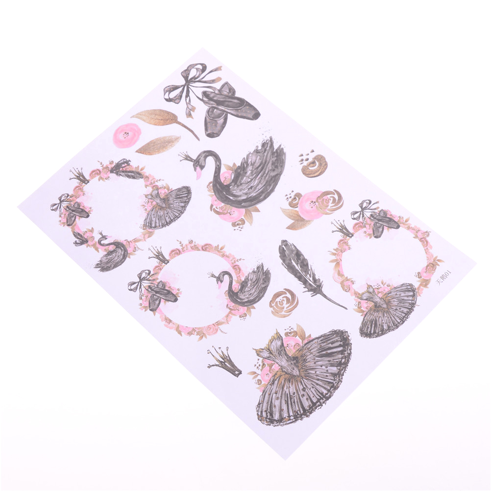 New /& Sealed Ballerina Theme Stickers – 3D Acid Free