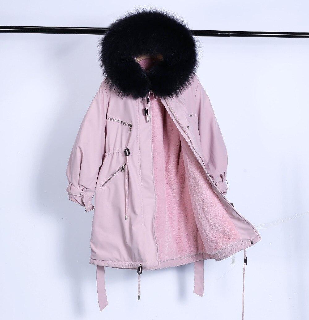 Large Natural Raccoon Fur Winter Jacket Women Hooded 19 Long Parkas For Female Thick Slim Down Winter Coat Women Waterproof 22