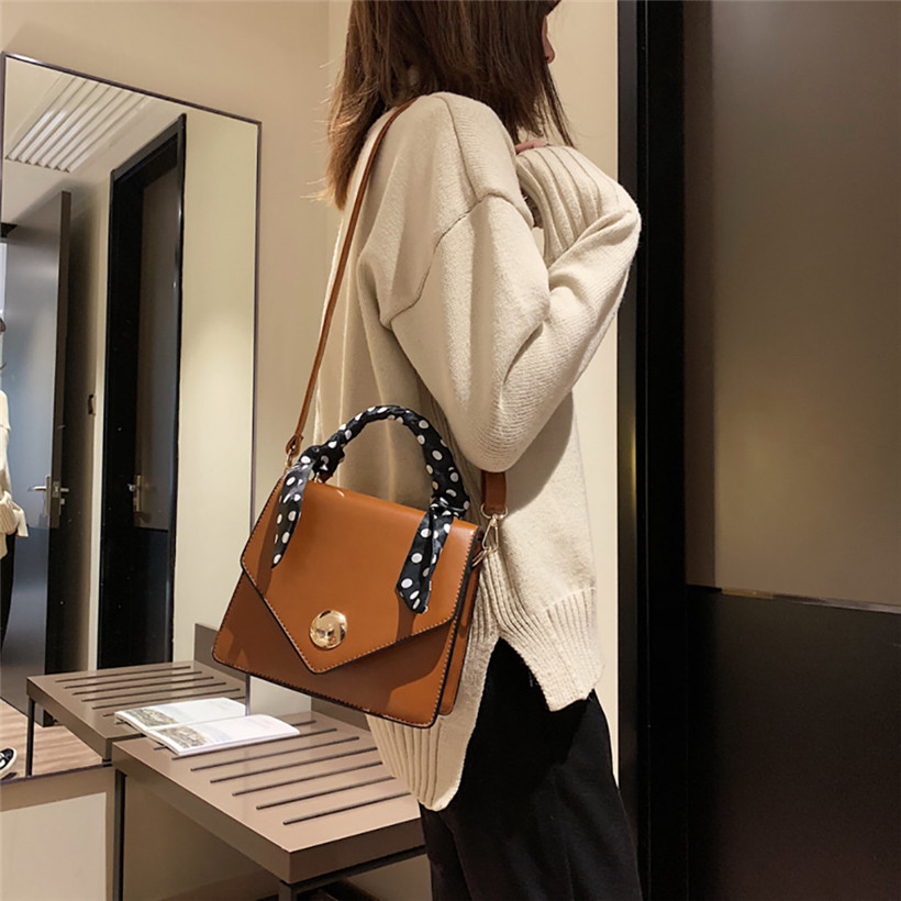 Big Sale 2018 Autumn New Bag for Women Tide Female Bag Wild Big Bag Retro Handbag Commuter Scarf Femme Shoulder Messenger Bag 2