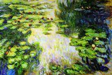 Water Lilies Flower by Claude Monet Handpainted