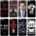 Mr Робот Жесткий Прозрачный Чехол Case для iPhone 7 7 Plus 6 6 S Плюс 5 5S SE 5C 4 4S