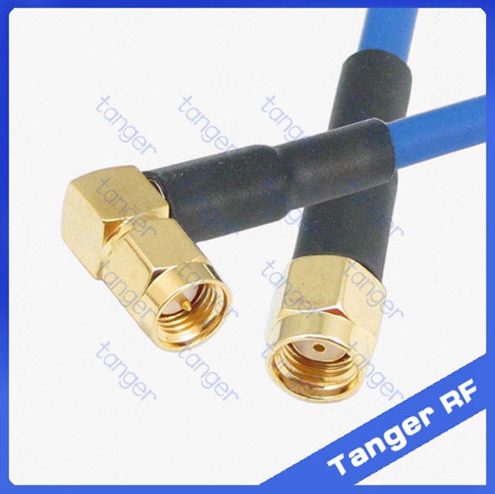 SMA plug male to male two right angle RG402 RF Semi Flexible Coax Low LOSS Cable