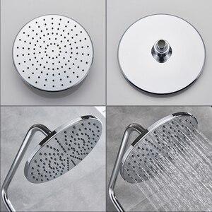 Хромированный душ дождевой насадкой, термостатический смеситель душа, настенный вращающийся Лейка ванной смеситель душа, система лейка дл...