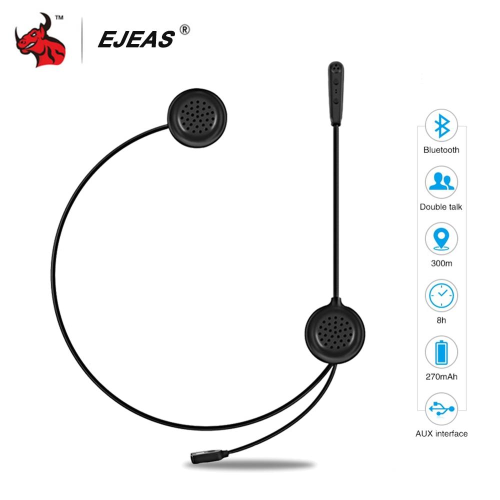 EJEAS Helmet Headset Motorcycle Intercom Bluetooth Interphone Intercom Motorcycle Wireless Headset Radio Interphone Moto 300m