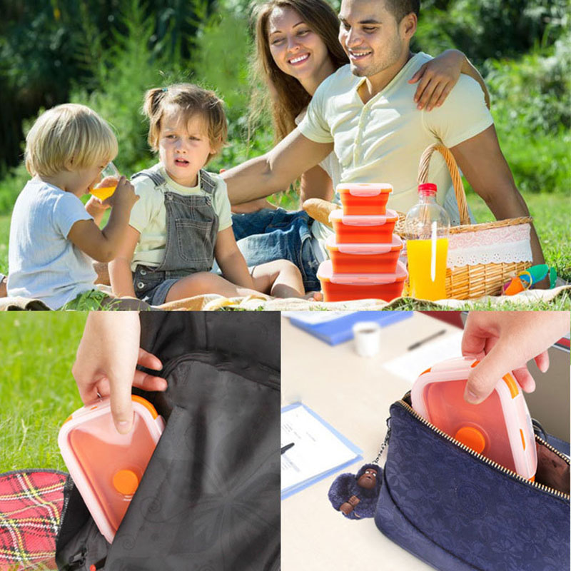Collapsible Lunch Boxes. SAVE MORE with our set of 4!