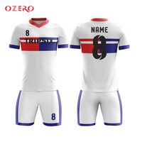 blue and red soocer shirt classic club soccer jersey custom logos