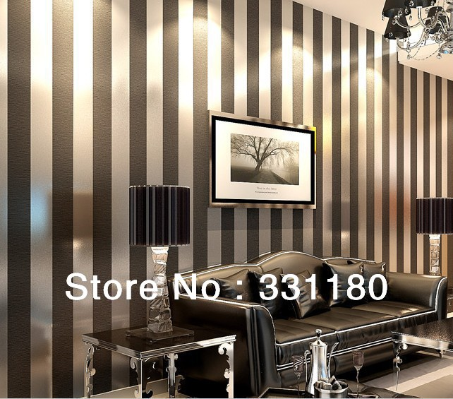 Black White Stripe Wallpaper Roll Of Wall Paper Stickers Living Room Home  Decor Papel De Parede ... Part 65