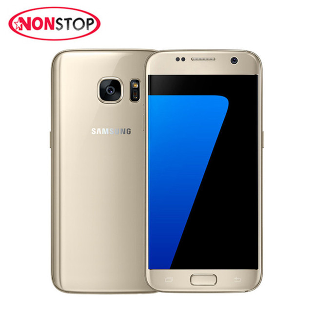 US $177 02 35% OFF|Original Unlocked Samsung Galaxy S7 quad Core 4G LTE NFC  GPS Smartphone G930A/G930F/G930V 5 1'' touch screen Mobile Phones-in