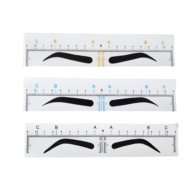 20Pcs Disposable Microblading Accessories Eyebrow Ruler Sticker Permanent Makeup Eyebrow Shaping Stencil Tattoo Measure Tools 1