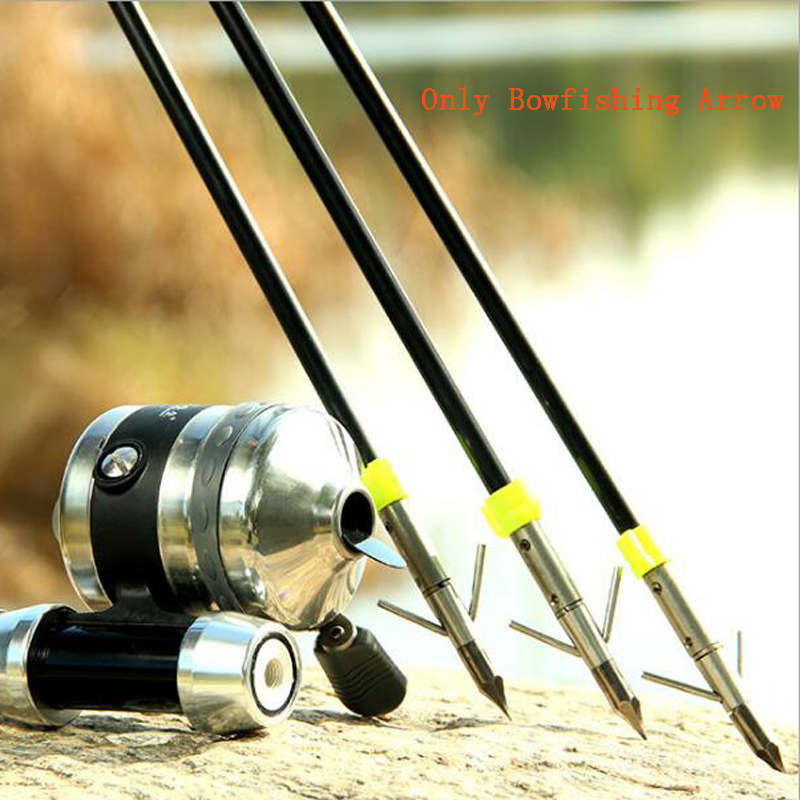6pcs Archery Bowfishing Arrow Diameter 8mm Fishing Arrows Fit for Slingshot Recurve Bow Compound Bows