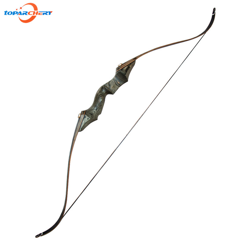 58 Right Hand Traditional Take Down Bow Recurve Bow 30-50lbs for Archery Hunting Shooting Target Practice Games Wooden Bow