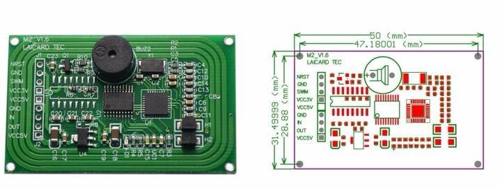 2 pcs lot 9600bps 115200bps 13 56mhz serial rfid reader module