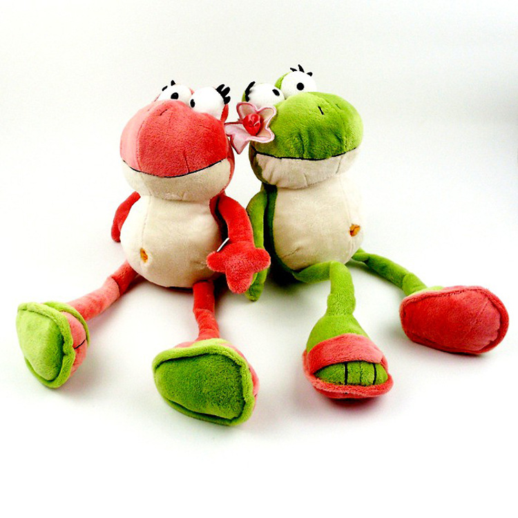 The nici Frog Prince Cute Frog Plush Toy Children Lovers Birthday Christmas Present Free Shipping 1pcs Animal Doll couple frog plush toy frog prince doll toy doll wedding gift ideas children stuffed toy