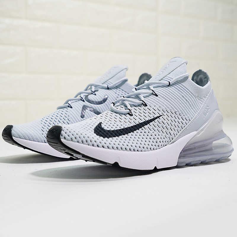 Оригинальный Nike Оригинальные кроссовки Air Max 270 Flyknit Для мужчин без носка, беспатная хорошее качество дышащие легкие кроссовки AO1023