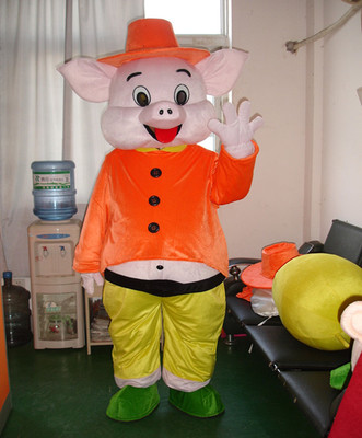 Happy Pig Mascot Costumes Cartoon Apparel Advertisement Costumes Halloween Birthday Party  Animal Mascot Costume Cute Game Play